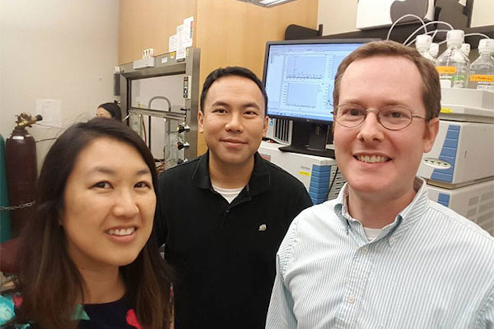 Neuroene's Chief Operating Officer Dr. Sherine Chan, Chief Executive Officer Dr. James Chou and Chief Scientific Officer Dr. Richard Himes