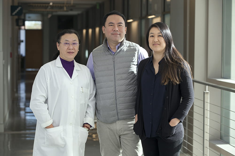 Dr. Zhi Zhong, Dr. James Chou, and Dr. Sherine Chan of the Medical University of South Carolina