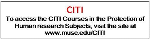 Access CITI courses at MUSC