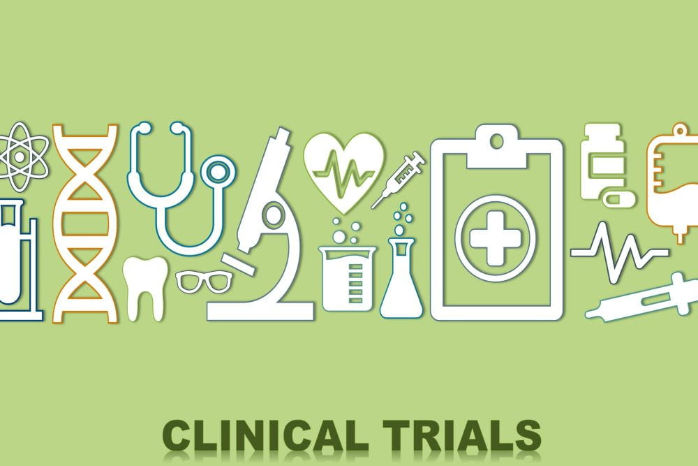 Graphic of the various instruments used in clinical trials.